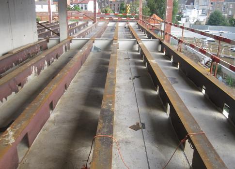 Kantoor TMVW Gent Slimline vloersysteem