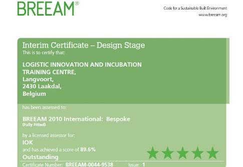 Breeam Certificate LiTC IOK Laakdal