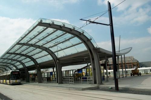 Haltegebouw Flanders Expo De Lijn Gent